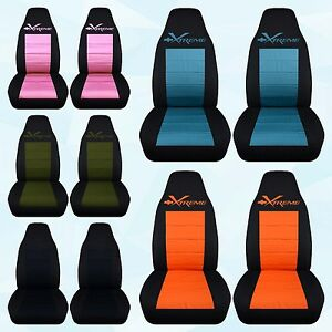 Designcovers Fits Chevrolet Camaro xtreme Highback Front rear Car Seat Covers