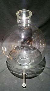 Kontes Approximately 15l Round Bottom Laboratory Flask W Bottom Outlet