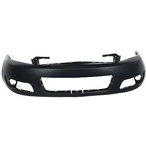 Front Bumper Cover For 2006 2013 Chevrolet Impala With Fog Primed 89025048