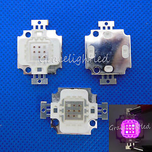 10pcs 10w Red 660nm Blue 455nm 7 2 High Power Led Light For Plant Grow Growth