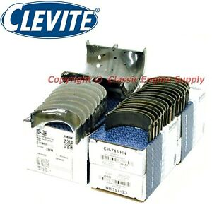 New Clevite H Series 010 Under Size Rod Main Bearings 327 302 283 265 Chevy