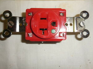 Hubbell 8310r Hospital Grade Receptacle 10 lot Red 20a 125v 2 pole 3 wire