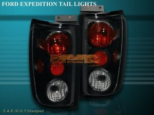 1997 2002 Ford Expedition Altezza Tail Lights Black Smoke G2 1998 1999 2000 2001