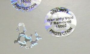 500 Custom Pond 20 Mm Round Hologram Label Sticker Protection Seals