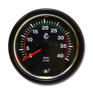 Taiwan Made 85mm Electrical Tachometer Gauge For Diesel 12v 24v 0 4000 Rpm