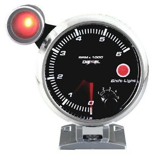95 Mm 3 3 4 Inches Auto Tachometer 0 6000 Rpm Outside Shift Light For Diesel