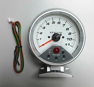 95 Mm 0 11000 Rpm 7 Colors Led Backlight Auto Tachometer With Shift Light