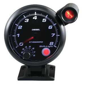 95 Mm 3 3 4 Inches Auto Tachometer 0 8000 Rpm Outside Shift Light For Diesel