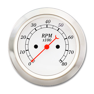 Taiwan Made 85 Mm Vintage Auto Classic Gauge Electrical Tachometer 0 8000 Rpm