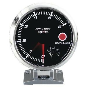95mm 3 3 4 Inches Shift Light Diesel Tachometer 0 6000 Rpm