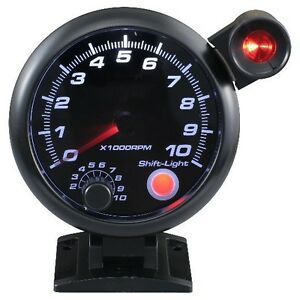 95 Mm 3 3 4 Inches Auto Tachometer 0 10000 Rpm With Outside Shift Light