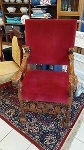 Throne Chair Circa 1880 Gothic Louis Xiii