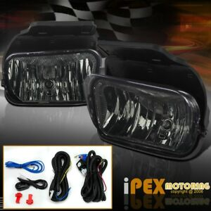 2003 2006 Chevy Silverado 1500 2500hd Smoke Front Bumper Fog Lights Wiring Kit
