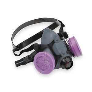 North Half Mask Respirator Assembled P100 Filters New Large For Mold And Lead