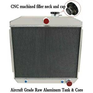 3 Row Aluminum Radiator For 1955 1957 Chevy Bel Air Nomad One Fifty Two Ten V8