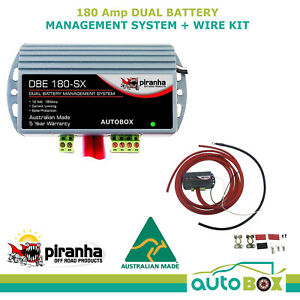 Piranha Dual Battery Management System 180amp Including Wiring Kit