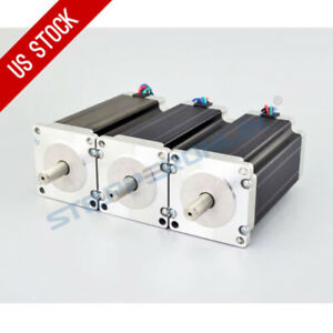 Us Ship 3pcs High Torque Nema 23 Cnc Stepper Motor 425oz in 4 lead Diy Cnc Kit