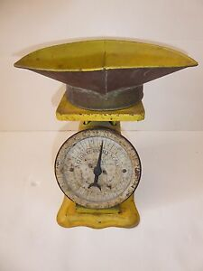 1912 National Family Scale 24 Lbs With Scoop Vintage Antique