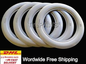 Old Firestone Tire Style 13 X3 White Walls Tire Insert Trim 4 Pcs Portawalls