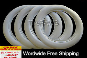 Old Firestone Tire Style 16 X3 White Walls Tire Insert Trim 4 Pcs Portawalls