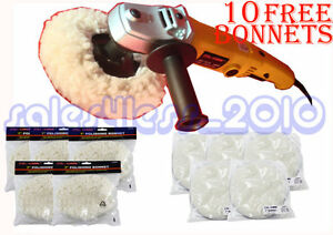 7 Variable 6 speed Electric Car Polisher Buffer W 10pc Polishing Buffing Pads