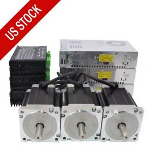 Us Ship 3 Axis Cnc Kit 1204oz in Nema 34 Stepper Motor Dm860i Driver Cnc