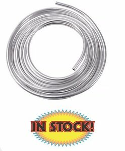 Russell 639480 3 8 Aluminum Fuel Line 25 Ft Roll Silver