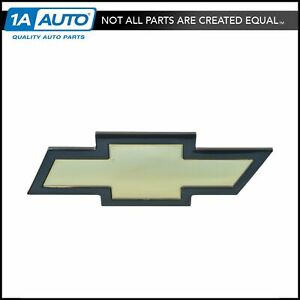 Oem Bowtie Emblem Grille Mounted Gold With Black Border For 03 15 Chevy Express