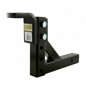 10 Adjustable Trailer Drop Hitch Ball Mount For 2 Receiver Towing Hauling Hd