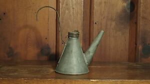 Antique Early American Tin Can Oil Filler