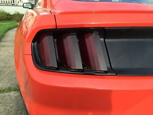 2015 2017 Ford Mustang Smoke Tail Light Tint Cover Smoked Overlays Complete Rear