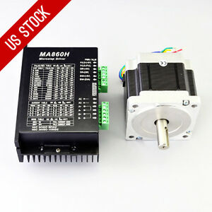 Us Ship 1 Axis Cnc Kit 637oz in Nema 34 Stepper Motor Driver Cnc Mill Router