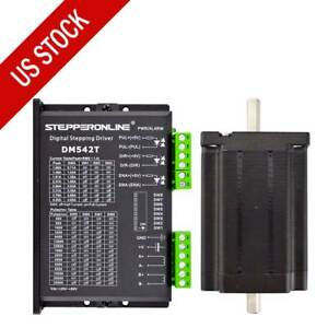 Us Ship 1 Axis Cnc Kit 439oz in Nema 24 Stepper Motor Driver Cnc Mill Router