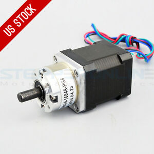 Us Ship 5 1 Planetary Gearbox High Torque Nema 17 Stepper Cnc Robot 3d Printer