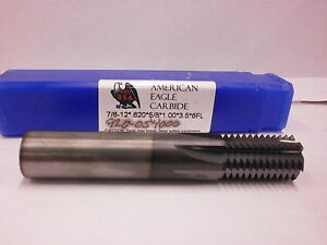 7 8 12 Solid Carbide Thread Mill Altin Coated Straight Flute 707so