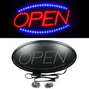 Animated Motion Running Led Business Open Sign on off Switch Bright Light