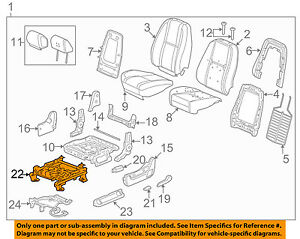 Gm Oem Front Seat seat Track 22804418