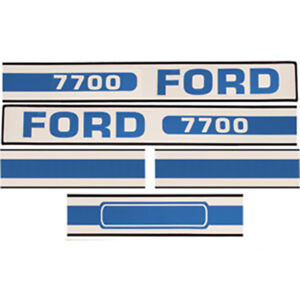 F7700 New Tractor Hood Decal Made To Fit Ford New Holland Tractor 7700 D f7700