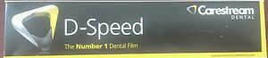 Dental Kodak Intraoral D speed 100 X ray Films Carestream Adult Size 2 Df 58