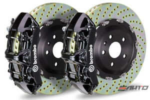 Brembo Front Gt Brake Bbk 6 Piston Black Caliper 380x34 Drill Disc Audi S3 15