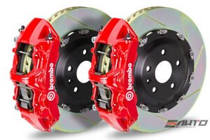Brembo Front Gt Brake Bbk 6 Piston Red Caliper 380x34 Slot Rotor Audi S3 15