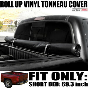 Lock Roll Up Soft Tonneau Cover 14 18 Silverado 1500 Crew Cab 5 8 Ft 68 Bed