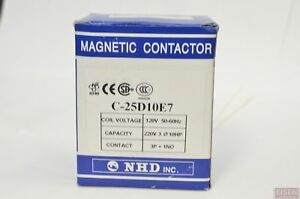 Nhd C 25d10e7 Magnetic Contactor For 10hp Motor 120v Coil Normally Open