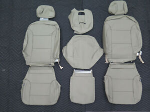 2014 2015 2016 2017 Chevy Silverado Sierra Crew Katzkin Leather Seat Cover Set