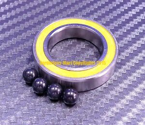 qty 4 S6002 2rs 15x32x9 Mm Hybrid Ceramic Ball Bearing Abec 5 Yellow 6002rs