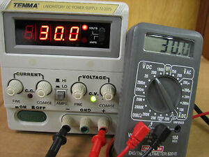 Tenma 72 2075 Dc Laboratory Power Supply Bench 30v 3a With Warranty