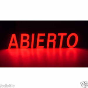 Mystiglo Led Abierto open In Spanish Sign
