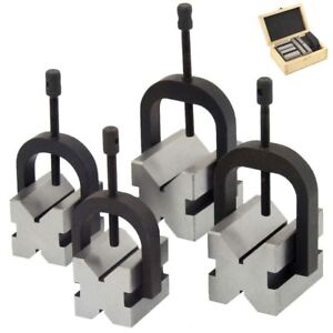 8 Pc V block Clamp Bar Double Sided 90 Precision Hardened Steel Machinist Tool