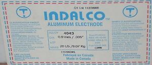 Indalco Aluminum Mig Welding Wire 4043 20 Spool 035 Made In Canada New