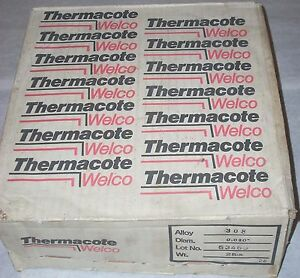 Thermacote Welco 308 Stainless Steel Mig Welding Wire 030 Dia 25 Lb